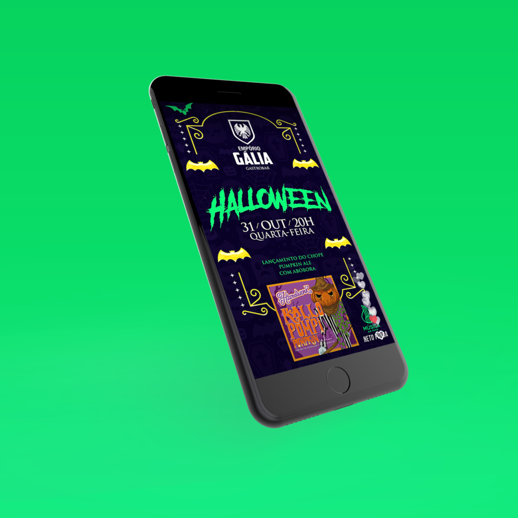 Anuncio Halloween da Emporio Galia, Para Stories