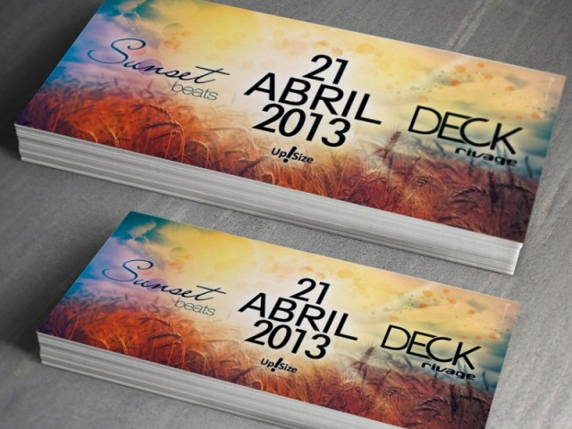 Flyer SunsetBeats Deck Rivage Blumenau dia 21 Abril 2013