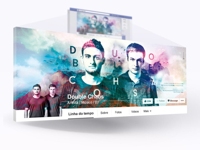 Capa Facebook e Capa Soundcloud DJ Double Chaos