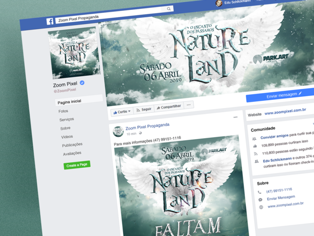 Capa Facebook Natureland 2019